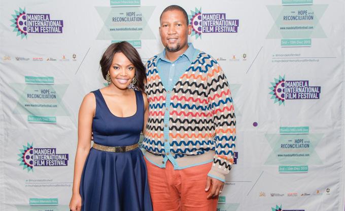 Film Festival AmbassadorTery Pheto and Patron iNkosi Zwelivelie Mandela  Image Credit: Anele Papu
